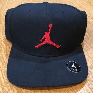 Black and red baseball hat